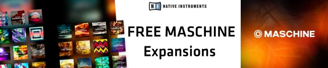 Banner Native Instruments - Free Expansions with Maschine