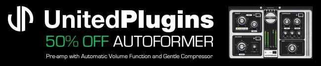 Banner UnitedPlugins - 50% Off Autoformer