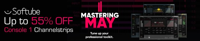 Banner Softube - Mastering May - Up to 55% Off