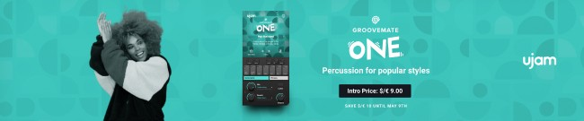 Banner UJAM: Groovemate ONE Introductory Offer