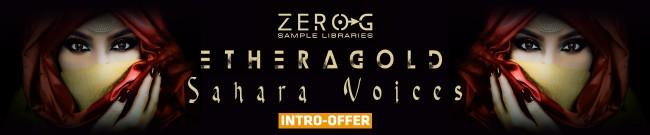 Banner Zero G - Ethera Gold Sahara Voices - Intro Offer
