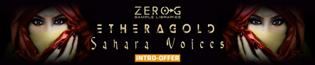 Banner Zero G - Ethera Gold Sahara Voices - Intro Offer