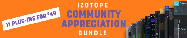 Banner iZotope Community Bundle Special