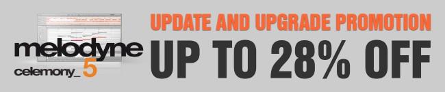 Banner Celemony Upgrade Promotion - Up to 28% Off