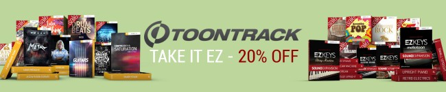 Banner Toontrack - Take It EZ - Deal Three