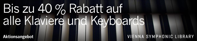 Banner VSL: Up to 40% Off All Pianos & Keyboards