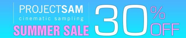 Banner Project SAM Summer Sale: 30% OFF
