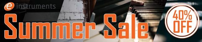 Banner e-instruments - Summer Sale: 40% OFF
