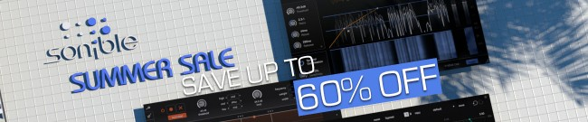 Banner Sonible - Summer Sale - Up to 60% Off