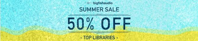 Banner Big Fish Audio - Summer Sale - 50% Off
