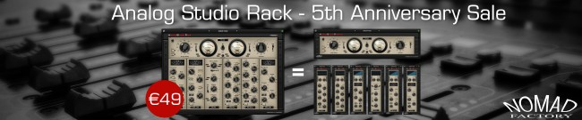 Banner Nomad Factory - Analog Studio Rack - 5th Anniversary Sale