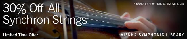 Banner VSL - 30% Off Synchron String Libraries
