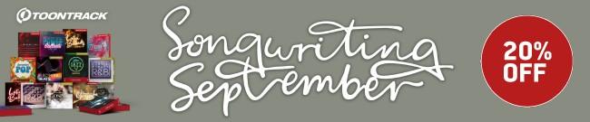 Banner Toontrack - Songwriting September - 20 % Off
