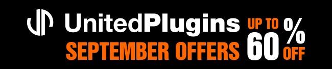 Banner UnitedPlugins - September Offers