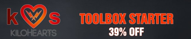 Banner Kilohearts - 39% OFF Toolbox Starter