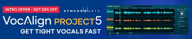 Banner Synchro Arts - 33% Off VocAlign Project 5