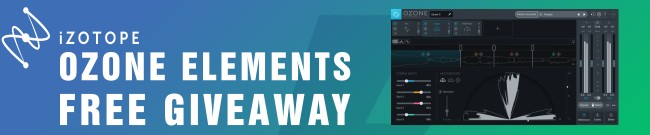 Banner iZotope Ozone Elements - Free Giveaway