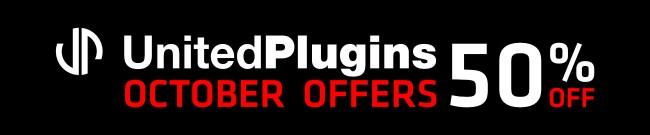 Banner UnitedPlugins - October Offers