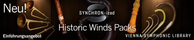 Neu: SYNCHRON-ized Historic Winds Packs