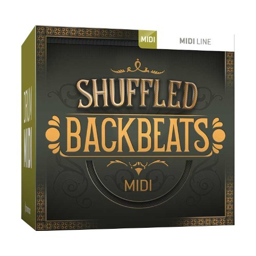 Drum MIDI Shuffled Backbeats