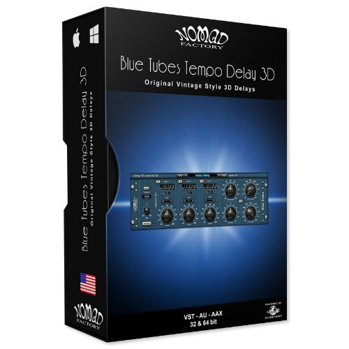 Blue Tubes Tempo Delay 3D