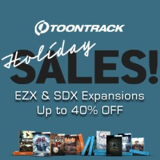 Toontrack: Up to 40% OFF EZX & SDX