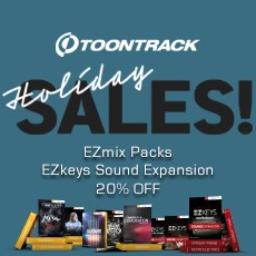 Toontrack: 20% OFF EZmix Packs & EZkeys EXP