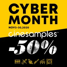 Cinesamples: Cyber Month - 50% OFF