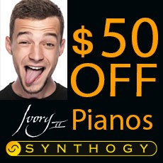 Synthogy $50 Off all Ivory II Pianos