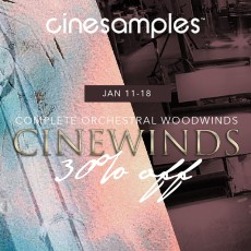 Cinesamples - CineWinds Flash Sale - 30% Off