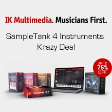 IKM - SampleTank 4 Instruments Krazy Deal