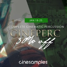 Cinesamples - CinePerc Flash Sale - 30% Off