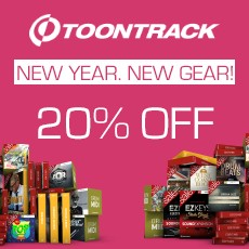 Toontrack - New Year - New Gear - 20% Off