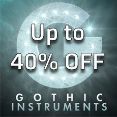 Gothic Instruments Sale - Up to 40% OFF