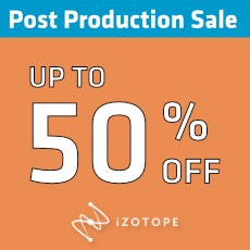 iZotope - Post Production Sale