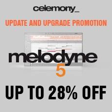 Celemony Upgrade Promotion - Up to 28% Off
