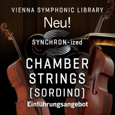 Neu: SYNCHRON-ized CHAMBER STRINGS (sordino)