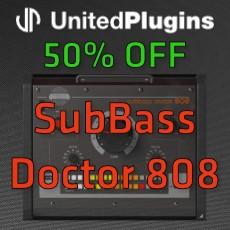 UnitedPlugins Sale - 50% OFF SubBass Doctor 808