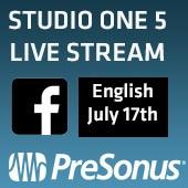 PreSonus StudioOne 5 Facebook Live Stream