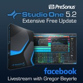 PreSonus StudioOne 5.2 Live Stream