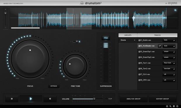 Drumatom GUI Screen