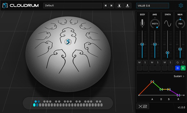 Cloudrum GUI Screen