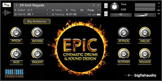 Epic KONTAKT Screen