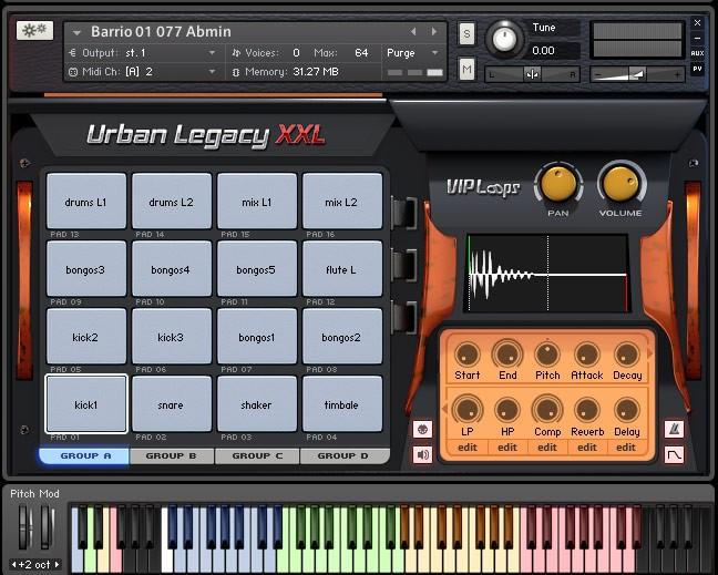 Urban Legacy Kontakt Screen