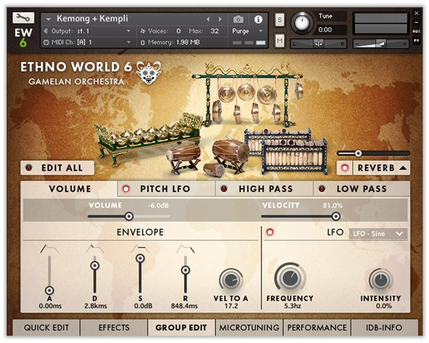 Ethno World Gamelan GUI