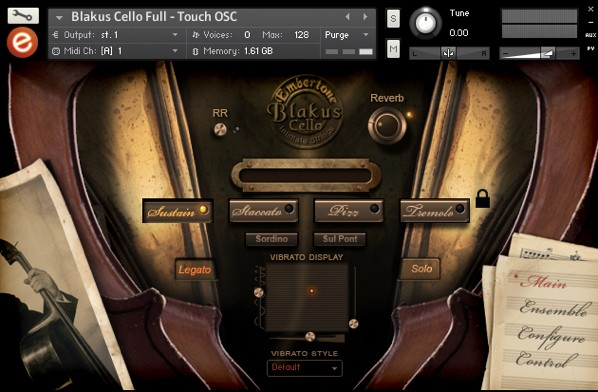 Blakus Cello GUI