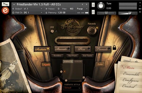 Friedlander Violin GUI