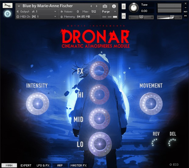 Dronar Cinematic Atmospheres GUI