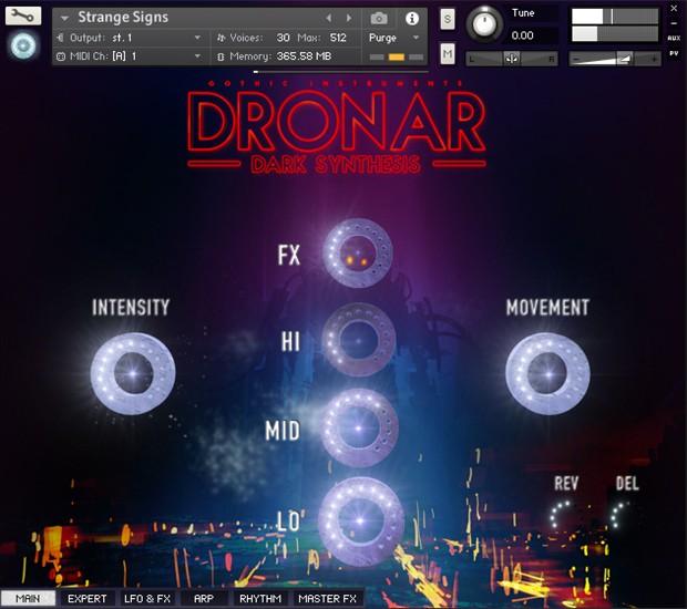 Dronar Dark Synthesis GUI