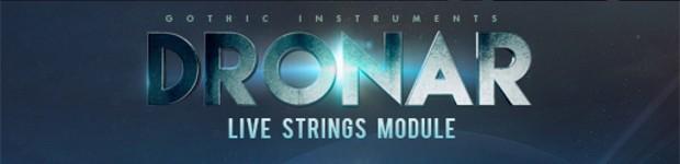 Dronar Live Strings Header